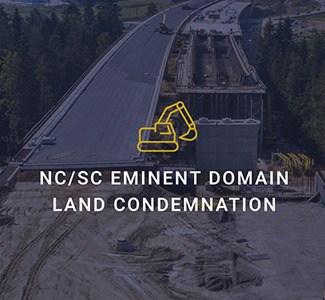 Nc Sc Eminent domain land condemnation